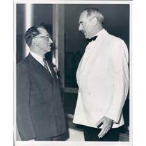 1951 Press Photo Detroit MI Mayor Albert Cobo, Dean Acheson - rkf11095