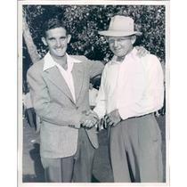 1947 Press Photo Denver CO Golfers Charles Babe Lind, John Thoren - rkf12993