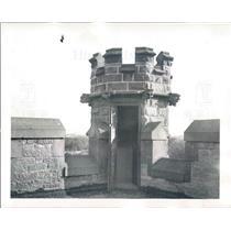 1940 Press Photo Detroit MI Episcopal Trinity Church Tower - rkf14315