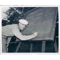 1949 Press Photo Detroit MI Golfer Max Evans First Place - rkf14451