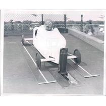 1958 Press Photo Detroit MI Milton Polinar Soap Box Derby Contestant