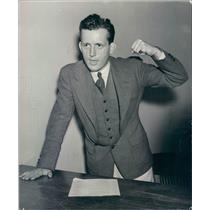 1937 Press Photo Denver CO Municipal Judge Philip Gilliam - rkf4677