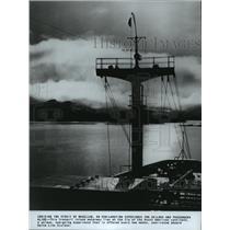 1980 Press Photo Tranquil inland waterway in Deadwood, South Dakota - spa90339