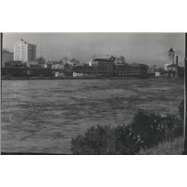 1948 Press Photo Spokane river flood - spa93306