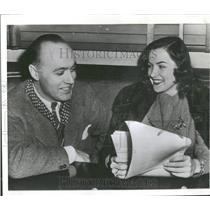 1943 Press Photo Actress Ella Raines