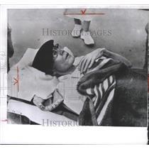 1961 Press Photo Robert McCann Face Drawn Hongkong - RRW36447