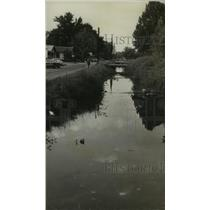 1972 Press Photo Alabama-Some Ensley residents use Village Creek for dump site.
