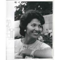 1961 Press Photo Mrs. Eunice Narcho, Tucson, Arizona, at Indian Convention