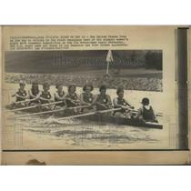 1976 Press Photo Coxswain competition, United States boat, Olympics - mjb67687