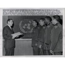 1963 Press Photo Lyndon Johnson Raymond Mahoney guards - RRW67293