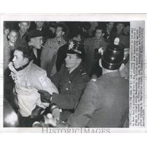 1955 Press Photo West Berlin Policeman Communists Paris - RRX81893