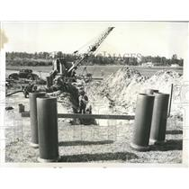 1956 Press Photo Clearwater Sewer Project - RRX86643