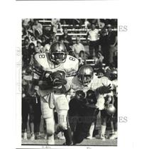1983 Press Photo Football - St. Augustine's Anthony Bell Catches Pass