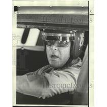 1970 Press Photo Car Racing - Buddy Baker in Car Qualifying for Dixie 500