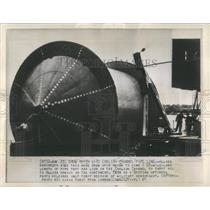 1961 Press Photo Allied Engineers English Channel Pipe - RRW53839