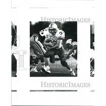 1993 Press Photo Tivy and Holmes play prep football at Northside Stadium