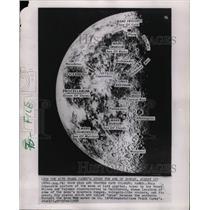 1958 Press Photo Mountain Ranges Volcanic Craters Moon - RRW25257