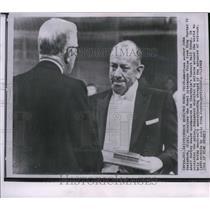 1962 Press Photo Author John Steinbeck receiving the Nobel Literature Prize