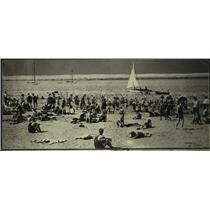 1925 Press Photo south shore bathing beach in Milwaukee - mjb79549