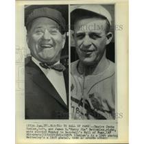 1928 Press Photo Baseball Umpire Jocko Conlan & James L Bottomley Hall of Famers