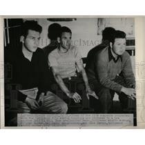 Undated Press Photo Three Five Suspect Hollywood Film Strike Bombing - RRX67453