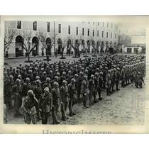 1934 Press Photo Italian Grenadiers during inspection in Rome - nem48498
