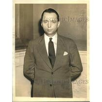 1942 Press Photo Ernst Peter Burger-Nazi saboteur to be witness on treason trial