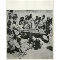 1951 Press Photo Group of school children in Srinagar, India - mjb77074