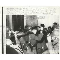 1961 Press Photo Police deter rioters at San Marcos University in Peru