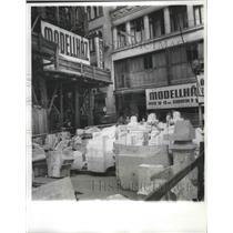 1963 Press Photo Downtown Budapest structure under renovation