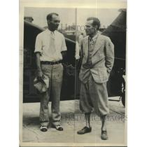 1929 Press Photo Fred A. Jones and Albert G. Graham plan non stop flight