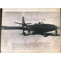 1947 Press Photo Lieutenant Commander William Kelly flew Navy's Twin Jet Phantom