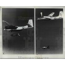 1955 Press Photo Military Planes in air - nem48556