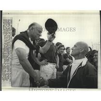 1970 Press Photo Baron Marcel Bich, French Boat Racer at Newport Rhode Island