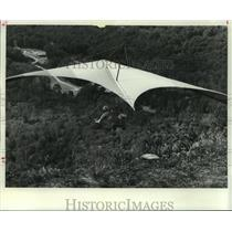 1977 Press Photo Hang glider taking flight - tua00356