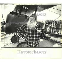 1979 Press Photo World War I pilot Robert Niemann, of Lodi, at Madison Airshow