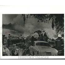 1982 Press Photo Wreckage of Pan American Flight 759 - noa88827