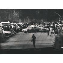 1983 Press Photo Birmingham, Alabama-Officers break up illegal motorcycle racing