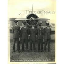 Press Photo Five students sons of army personnel wearing their uniforms
