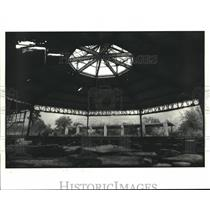 1988 Press Photo Decaying Pavilion at Lincoln Beach, New Orleans, Louisiana