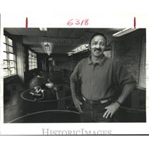 1987 Press Photo Buras coach Patrick Davis - noa89096
