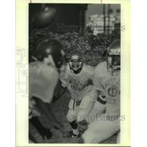 1989 Press Photo Johnny Dixon, at West Jefferson Football Practice - noa90124