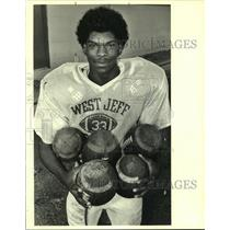 1988 Press Photo Johnny Dixon, Football Player for West Jefferson - noa90125
