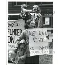 1992 Press Photo Abortion Rights Rally & Protest - RRW41809