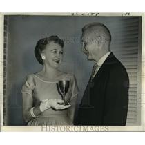 1960 Press Photo Mrs. Charles L. Colby awarded for service, Vieux Carre Owners