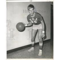 1969 Press Photo Basketball - John Bell of N.O.A. Bouncing Ball - nos04530