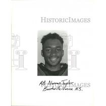 Press Photo Football - Norman Taylor, Running Back for Boothville-Venice School