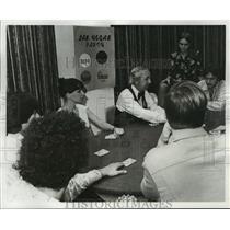 1976 Press Photo Leon Cornman at Las Vegas Party Gambling - nos07145