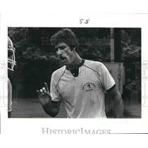 1985 Press Photo Harold Burgesis, Riverdale, Wrestling Coach Saint John School
