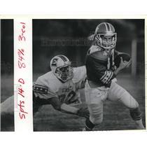 1988 Press Photo John Miller and Bobby Williams play prep all-star football
